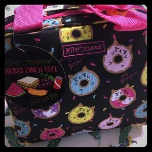 New Betsey Johnson lunch tote